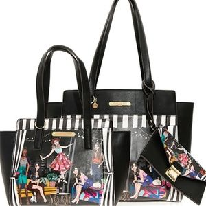 Nicole Lee 3 in 1 Purse Set House Party Girl Bags